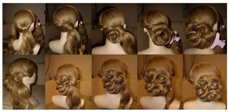 Мастер класс вечерних причесок на длинные волосы
