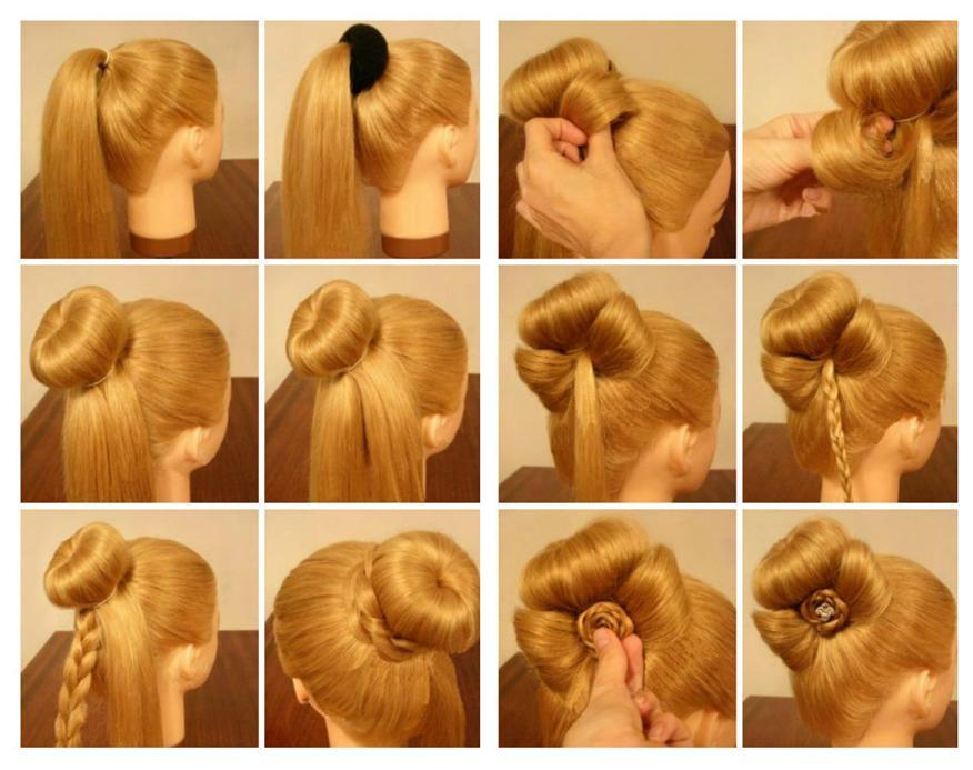 Красивая шишка из волос как сделать видео - Ubolussur.ru