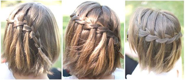 Фото причесок из кос на короткие волосы