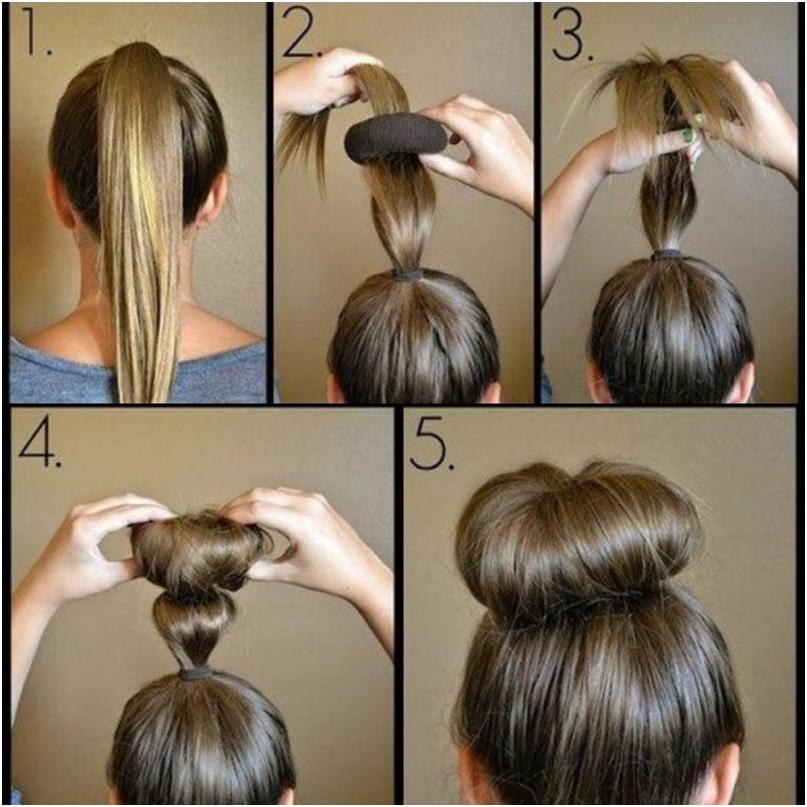 Как сделать причёску с резинкой-губка
