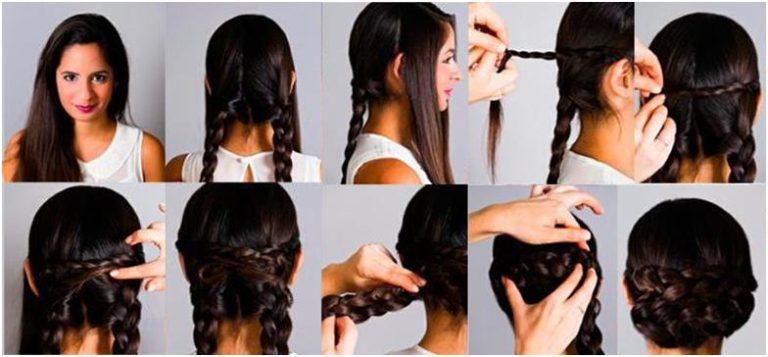 Как сделать прическу на средние волосы на вверх