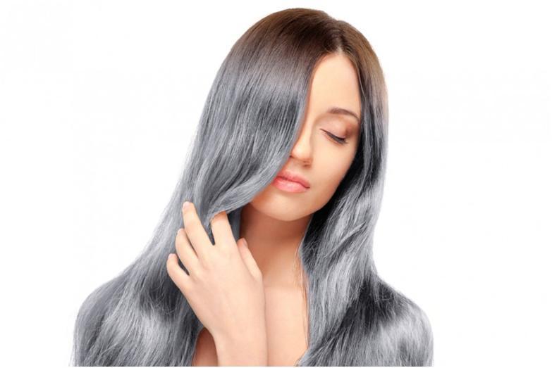 Чем оттенить седые волосы в домашних условиях