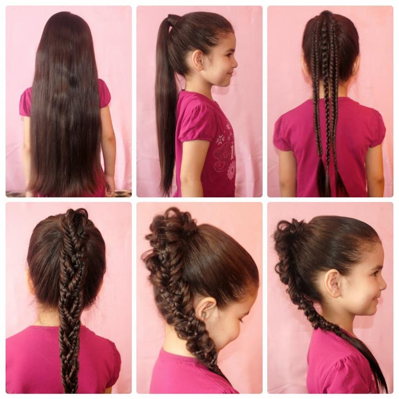 Стильные причёски для девочек