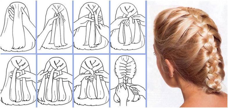 Как сделать косички обычные
