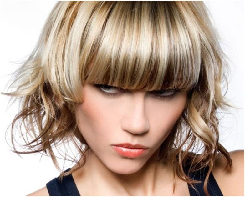 Прически На Средние Волосы С Мелированием Фото