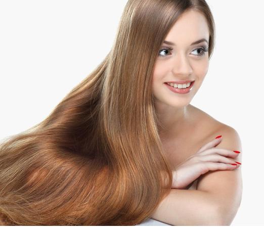 Девушка с длинными густыми волосами