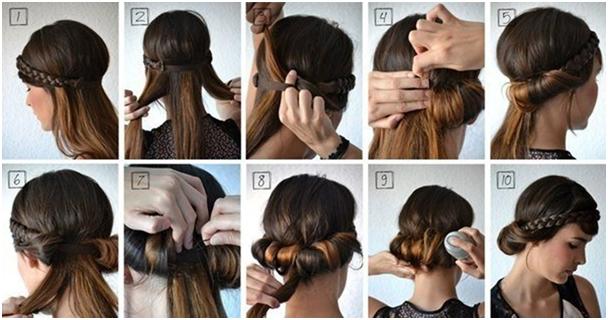Как сделать прическу с повязкой пошаговое фото