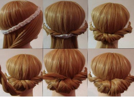 Греческая причёска на длинные волосы пошагово