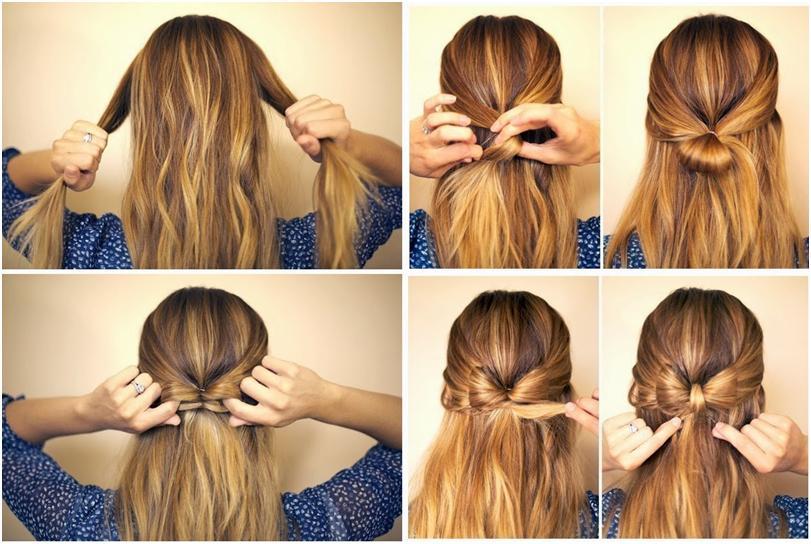 Прическа на волосы средней длины в домашних условиях пошагово