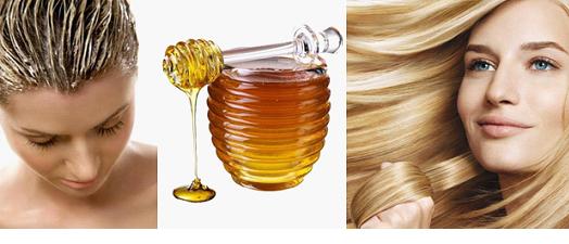 Мед, девушка с маской для волос на голове и светловолосая девушка улыбается