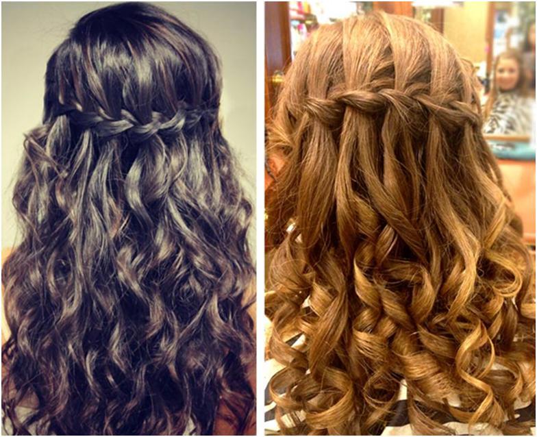 модные прически коса водопад
