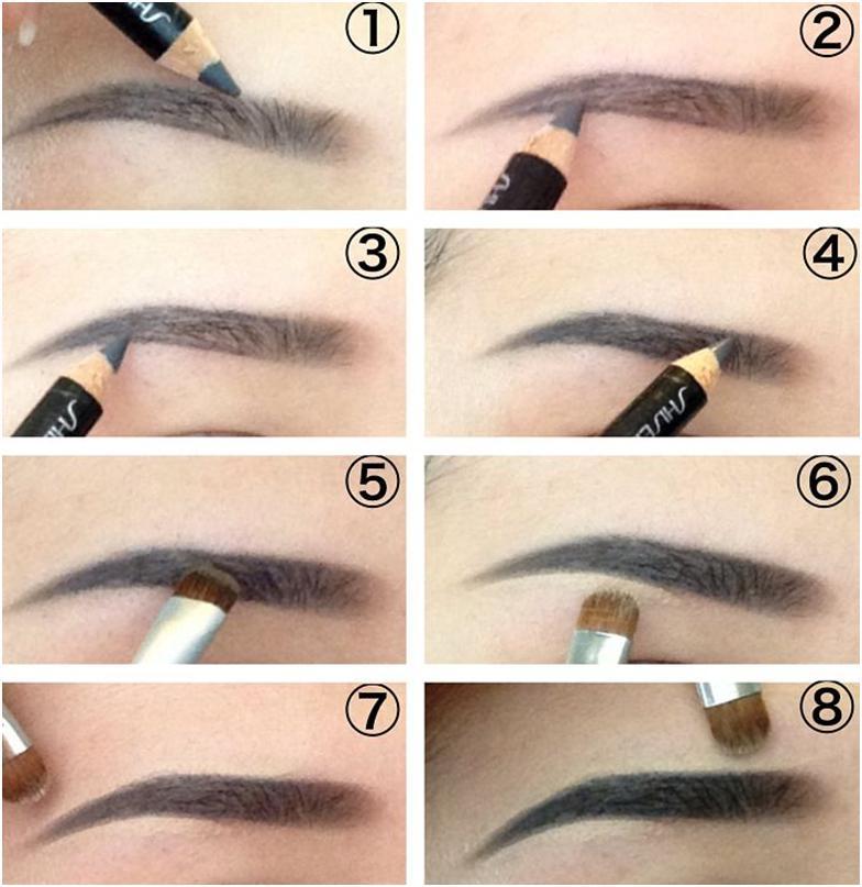 Как правильно сделать брови фото пошагово 377