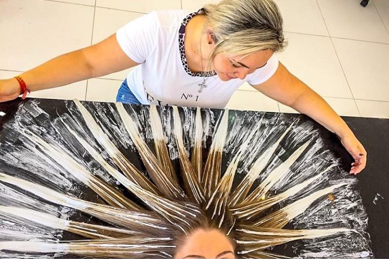 Как самой покрасить себе длинные волосы