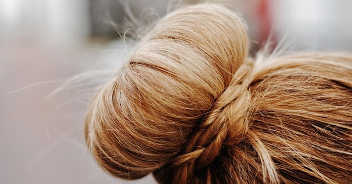 """""""Гулька"""" из волос"""