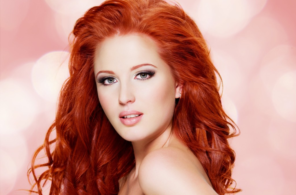 Фото макияж к рыжие волосы