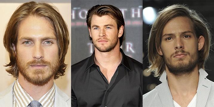 Стрижка мужская на средние волосы