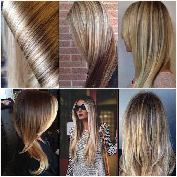 Варианты мраморного окрашивания волос