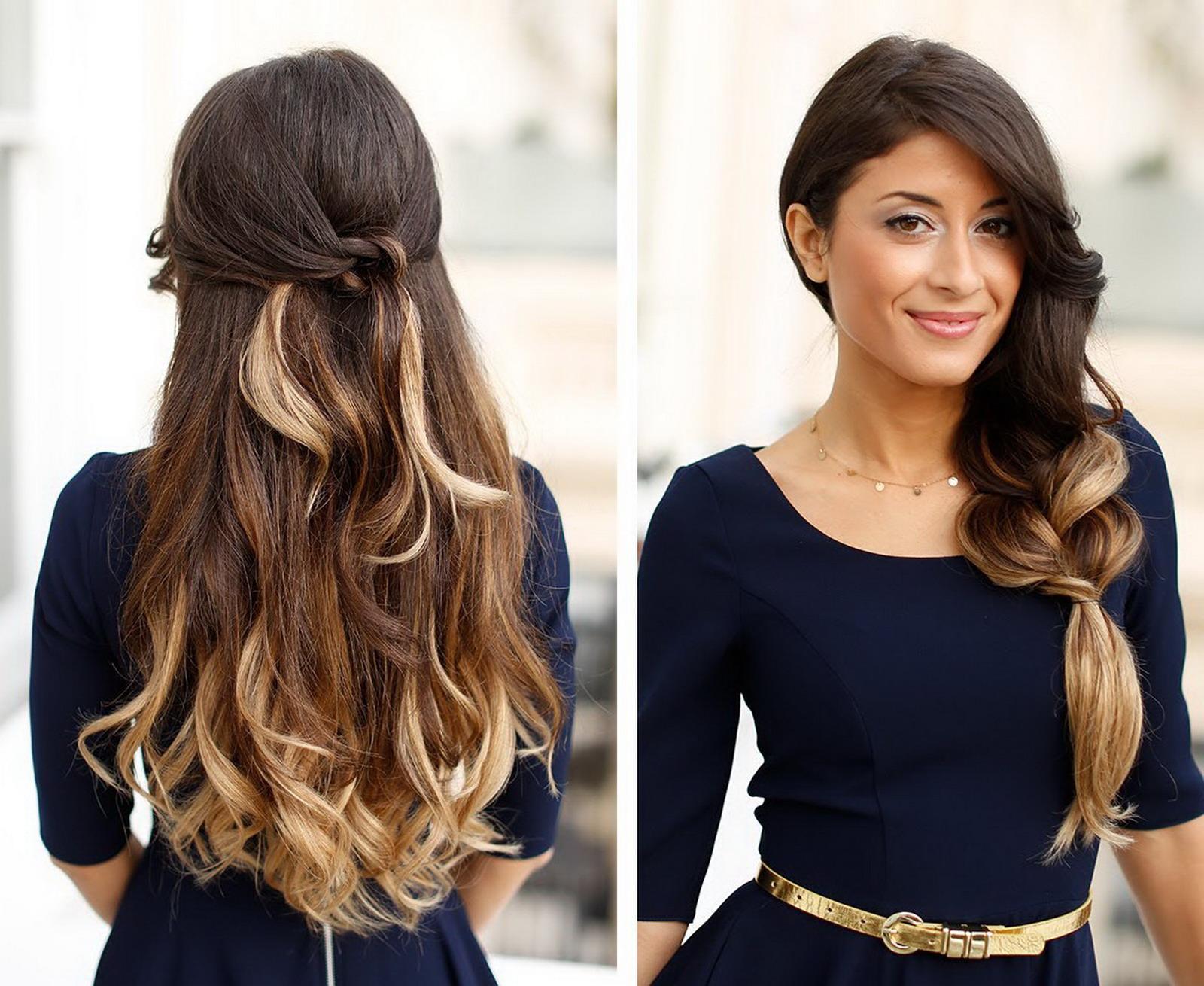 модные прически длинными волосами