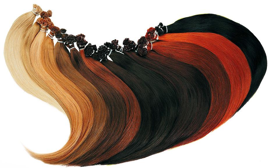 Разноцветные пряди волос