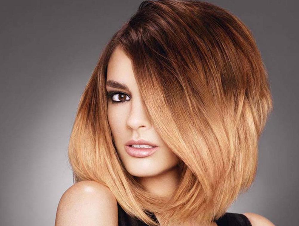 окраска волос омбре на каре