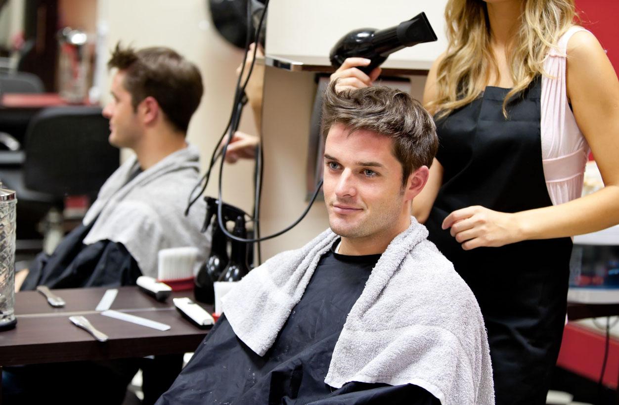 Укладка волос мужчине