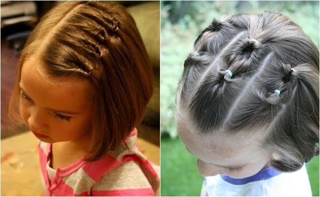 Прически для девочки на короткие волосы своими руками