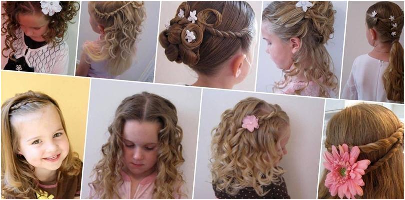 Прическа для детей на выпускной на длинные волосы