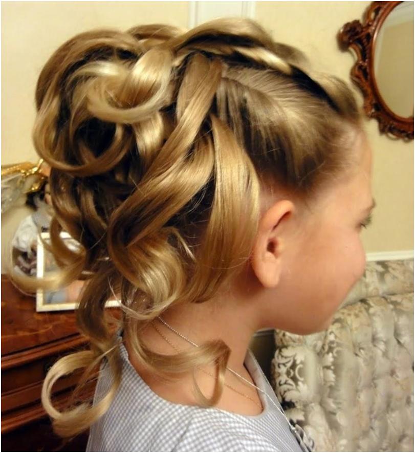 Прически на выпускной для девочек на длинные волосы в домашних условиях