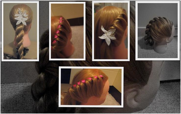 Как сделать жгутики на волосах 409