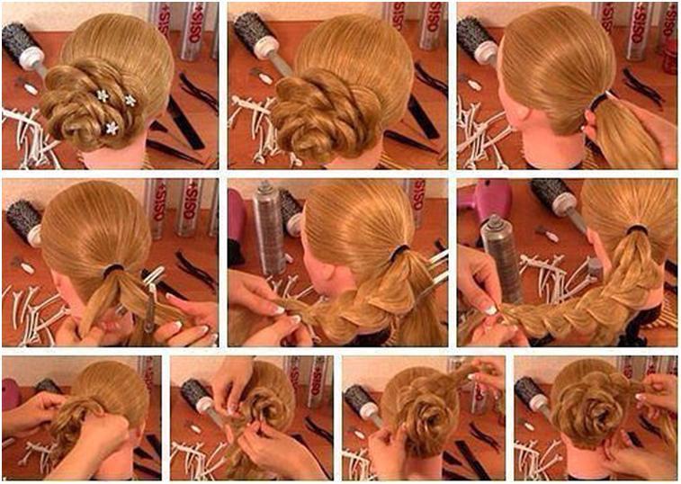 Плетение косы с пошаговым