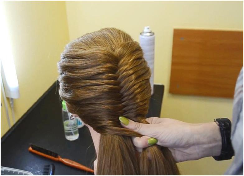 Плетение косы рыбий хвост