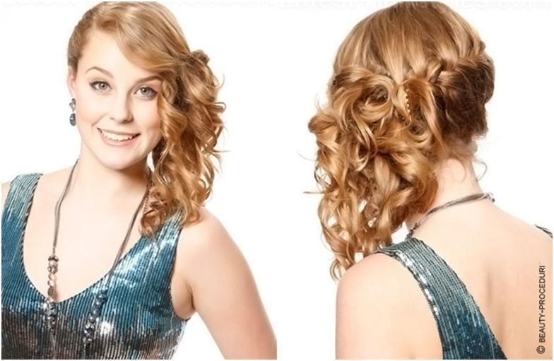 Прически кудри на средний волос 32