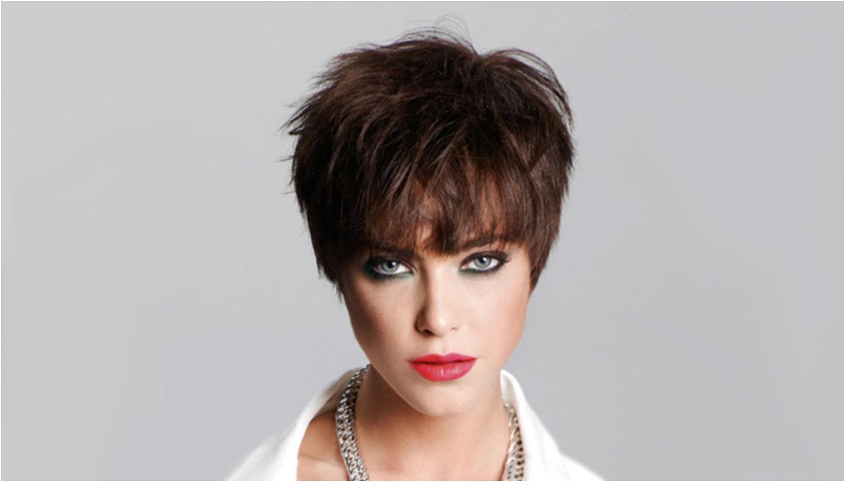 Женские причёски с короткой чёлкой