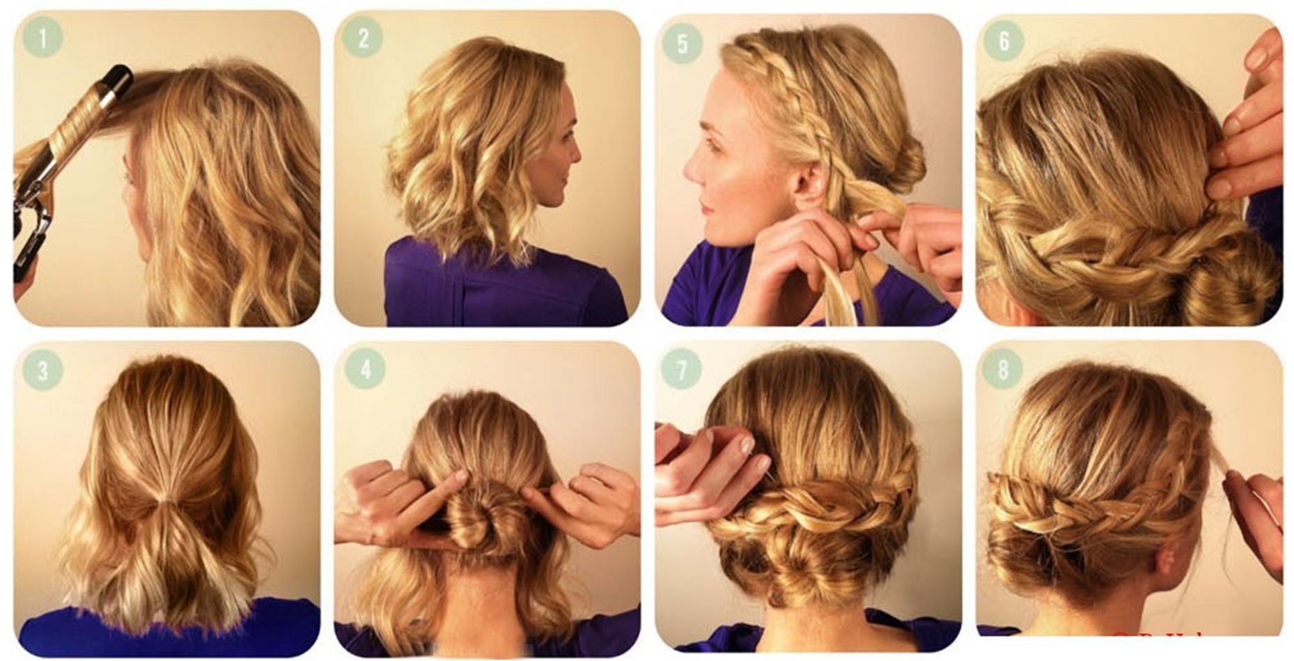Вечерние прическа как собирать короткие волосы6