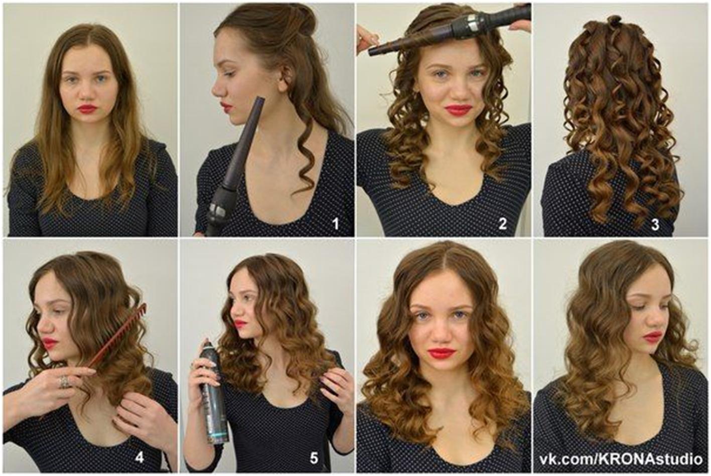Как накрутить короткий волос в 30