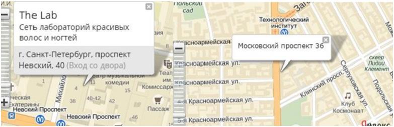 Карта салона TheLab