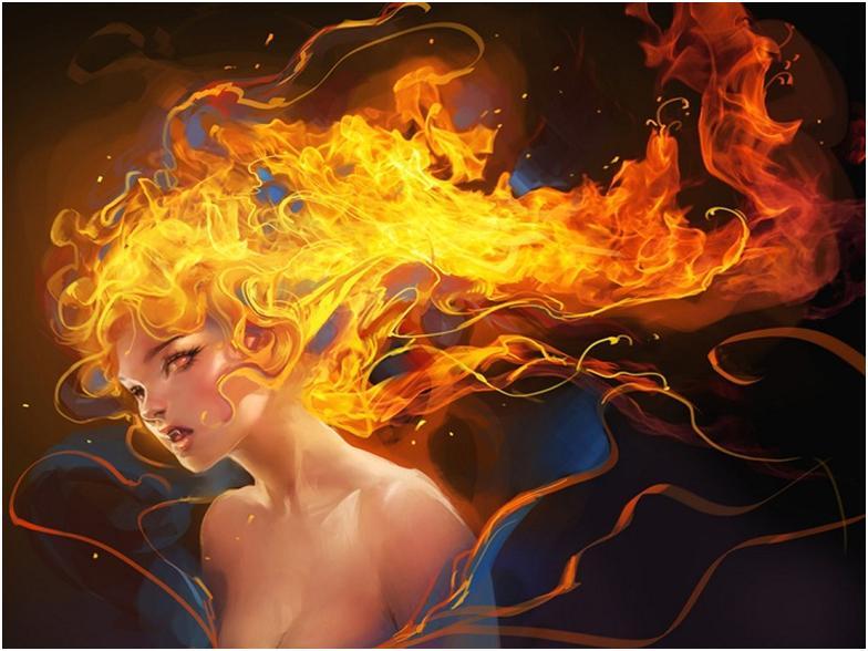 Волосы горят во сне