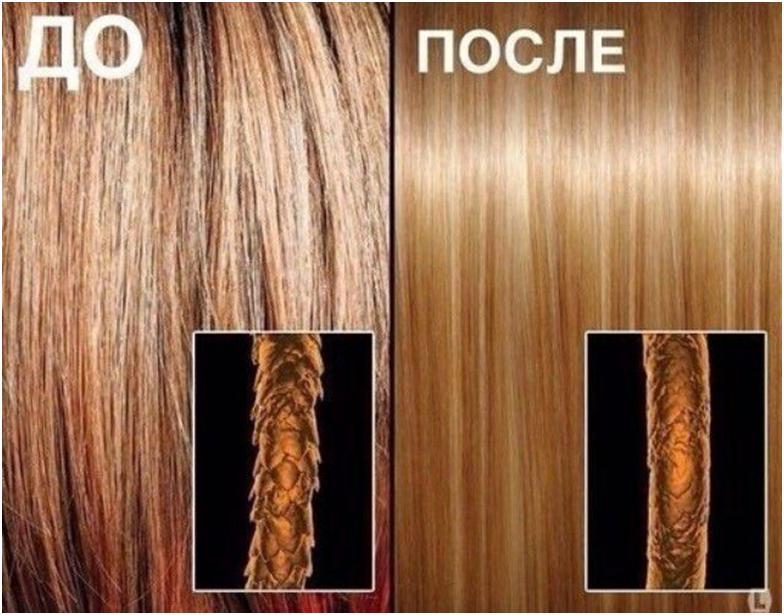 Волосы до и после краски