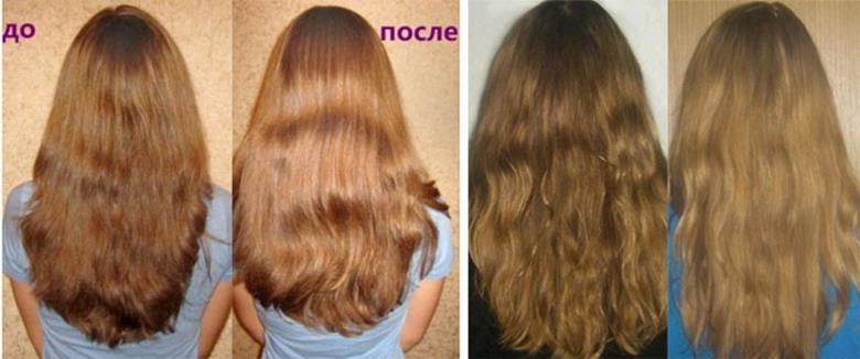 результаты окрашивания волос