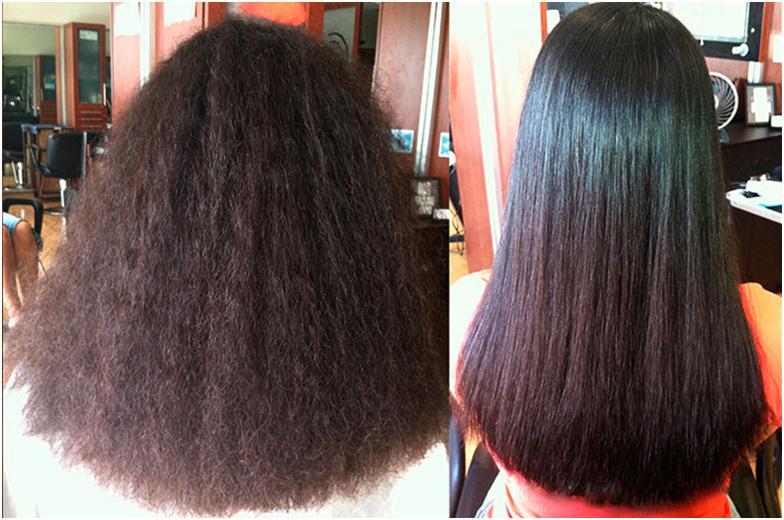 Волосы до и после флюидов