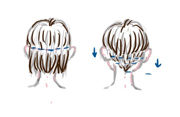 Подробная схема стрижки мальчика