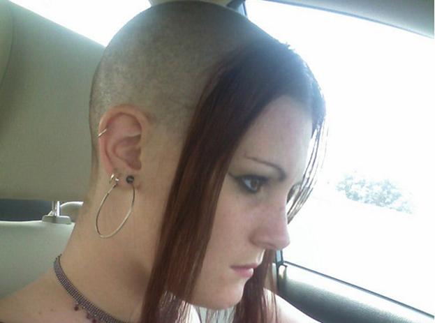 Экстравагантная причёска