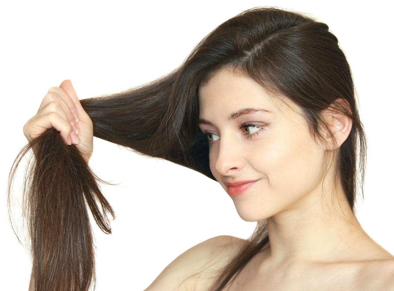 Здоровые волосы у девушки