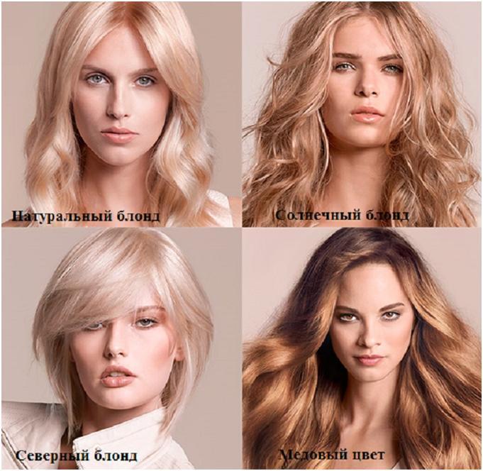 Варианты блонда