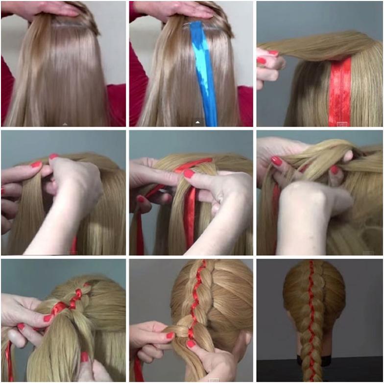 Заплести косу картинки пошагово