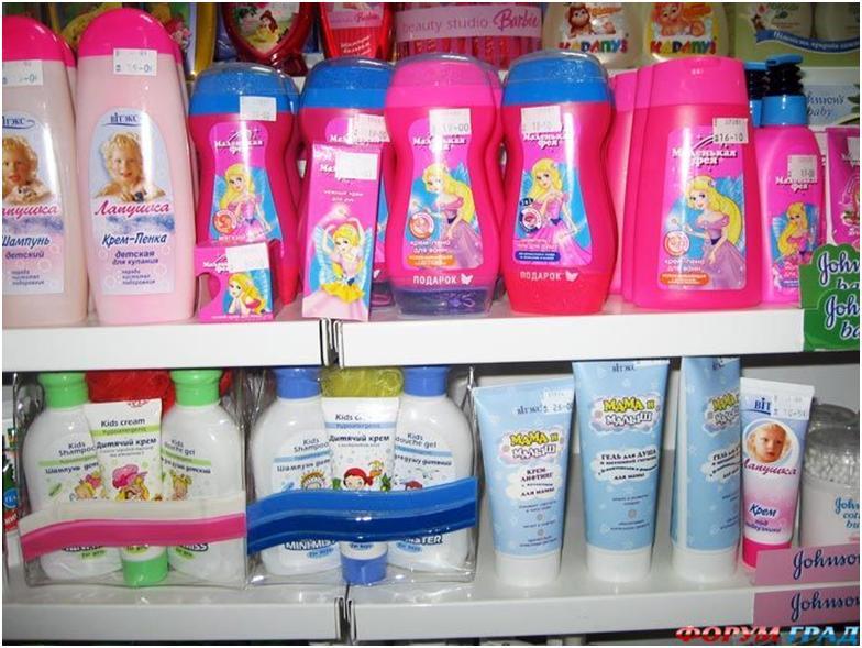 Ассортимент детских шампуней
