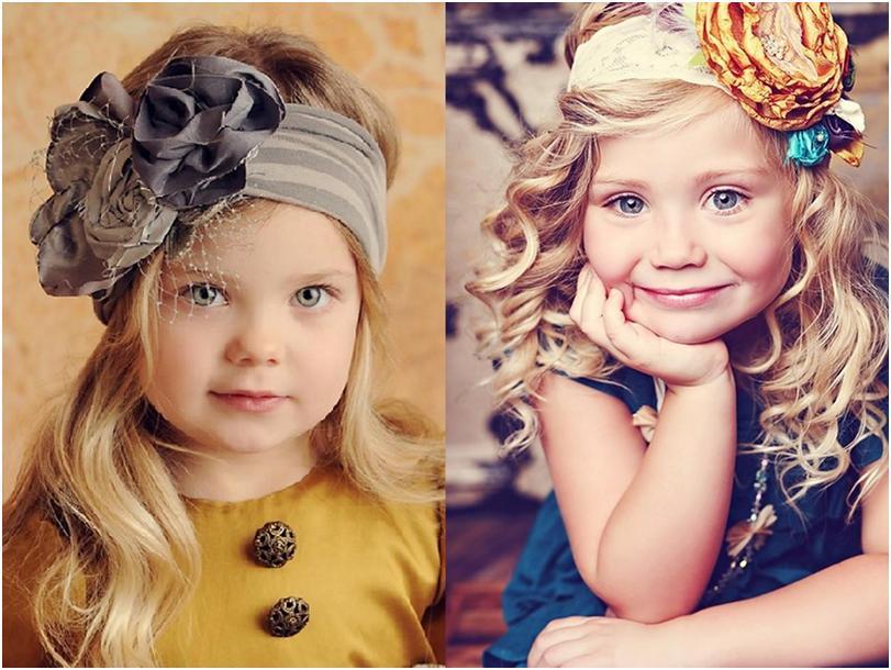 """Варианты детских причесок на распущенные волосы и с украшением """"цветок"""""""