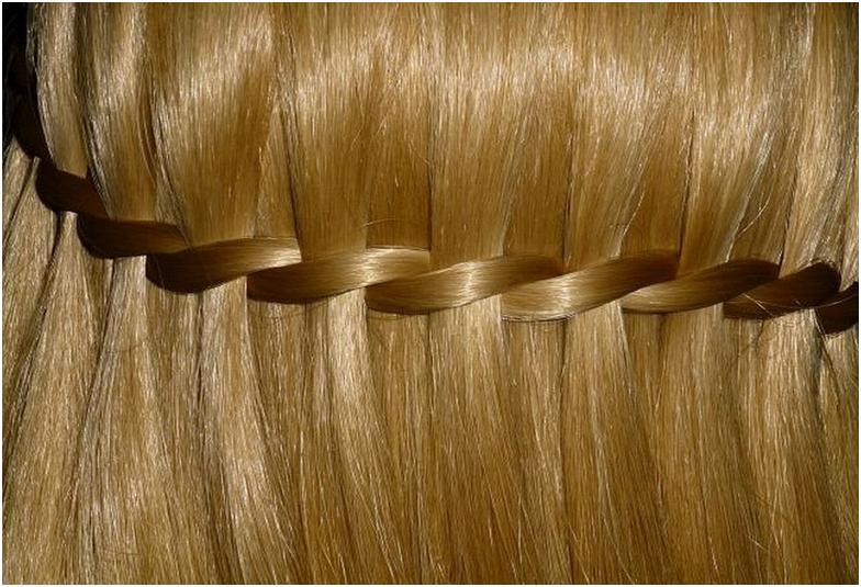 Прическа французский водопад на светлые волосы