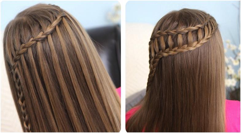 Варианты плетения прически водопад на длинные волосы